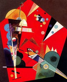 Wassily Kandinsky, tension in red, 1926