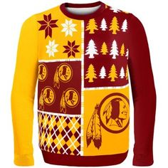 Washington Redskins Busy Block Ugly Sweater...hahaha would be awesome for a tacky sweater party
