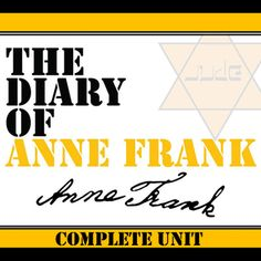 THE DIARY OF ANNE FRANK Unit Memoir Study - Literature Guide: Our Anne Frank Unit Teaching Package has pages and slides of engaging activities. Learners will enjoy the rigor and creativity in these standards-aligned resources built from best practices. Curriculum Mapping, Unit Plan, Anne Frank, School Lessons, Middle School, High School, Learn To Read, Teaching English, Memoirs