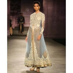 Powder Blue Embroidered Jacket and Dhoti Set by Anju Modi | India Couture Week - 2014, #Lehenga #AnjuModi #Ivory #Black #Sari #Saree #Gold #Gray #Indian #India #Desi #Designer #ICW #Luxury #Celebrity #Bollywood #RedCarpet #Beautiful #Stunning #CoutureWeek #Golden #Fashion #Style #Trend #Runway #Gorgeous Bridal Wear Wedding Wear #JacketLengha #zari #Embroidery #DhotiPants – Indian Ethnic Wear – Ethnic Fashion of India – Designer Wear - Shop collection at #ExclusivelyIn