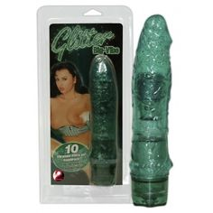 Vibrator Glitter Big Green 21cm - Xtoys.ro Sex Shop Online