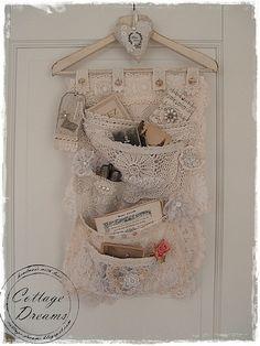 DIY: Lace Pocket Hanger