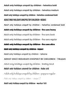 Mogelijke fonts