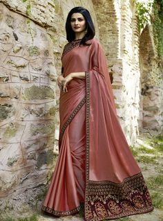 Buy Prachi Desai Peach Silk Festival Wear Saree 143204 with blouse online at lowest price from vast collection of sarees at Indianclothstore.com.