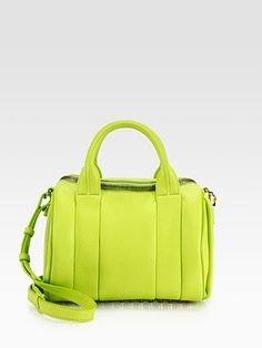 Weee!  It's fun to see Alexander Wang throw out some colour this season; Rockie Dumbo Satchel in Lime