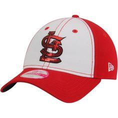 sports shoes deca3 5348e New Era St. Louis Cardinals Women s White Red Team Glimmer 9TWENTY  Adjustable Hat