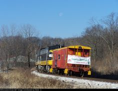 Peoria & Western Railway.   Description:  This little caboose was Santas home for the day on the P&W Santa train.   Photo Date:  12/5/2009  Location:  Mapleton, IL   Author:  Peter Z.  Categories:  Action  Locomotives:  PWRY 1752(FP9A)   Views:  83   Comments: 0