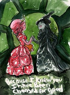 For Good Wicked Adventure Time by Tsubasa-No-Kami on deviantART AAAHHH! my two favorite things! For Good Wicked, Elphaba And Glinda, Prince Gumball, Marceline And Princess Bubblegum, Land Of Ooo, Finn The Human, Vampire Queen, Jake The Dogs, Bubbline