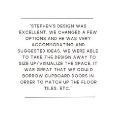 Thank you for your kind words Morgan...and thank you for your great service Steve. Visit us and meet our experienced designers 😊 😊 😊