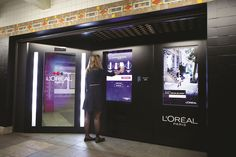 Loreal Paris - Intelligent Vendingmachine L'Oreal Paris has merged beauty care, digital technology and shopping experience in a unique 2-in-1 intelligent vending machine to appear in NYC metro. This will be a smart object enabled with colour-recognition technology that detects a colour palette in a woman's outfit by scanning her from feet to toe, and expertly suggest eye, lip and nail shades that better fit the colour of her clothing and hair.