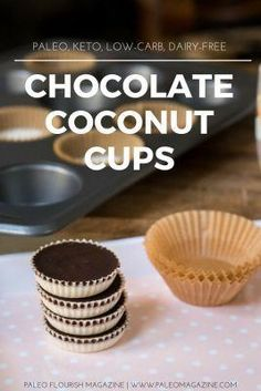 Get this Chocolate Coconut Cups Recipe [Paleo, Keto, Low-Carb, Dairy-Free] here. Includes beautiful photos and printable step-by-step instructions.