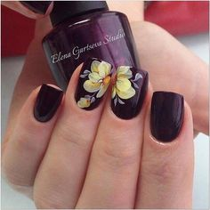 2017 Nail Polish Trends and Manicure Ideas Spring Nail Art, Spring Nails, Cute Nail Art, Cute Nails, Hair And Nails, My Nails, Nails 2017, Nail Polish Trends, Burgundy Nails