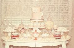 Fresno wedding cakes, cupcakes, cake pops, birthday cakes | Vintage Lace Dessert Table | Frosted Cakery
