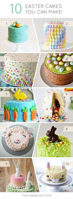 10 Easter Cakes You Can Make - a few of my cakes made this adorable cake roundup from @Matt Valk Chuah Cake Blog