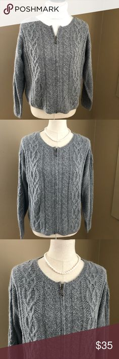 ICELANDIC DESIGN Angora Zipper Cardigan Sweater This sophisticated and stylish sweater will keep you comfortable and stylish during the winter! 55% silk/30% nylon/15% angora. Dry clean only. This sweater is in pristine condition and has only been worn once. Icelandic Design Sweaters Cardigans