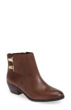 Free shipping and returns on Sam Edelman 'Peter' Leather Bootie (Women) at Nordstrom.com. Gleaming goldtone hardware refreshes a glazed-leather bootie set on a chunky stacked heel.