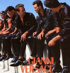 Versace 1993 Men's Collection, South Beach Stories, Photos by Doug Ordway, Miami 1992 80s Fashion Men, Versace Fashion, Versace Men, Gianni Versace, Timeless Fashion, Vintage Fashion, Biker Leather, Leather Men, Versace Hotel