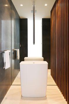 Agalarov Estate is a private contemporary villa with a distinctive facade designed in 2014 by architecture studio SL* Project, located in Moscow, Russia. Bathroom Closet, Bathroom Spa, Bathroom Toilets, Small Bathroom, Bathroom Ideas, Bathroom Furniture, Bathroom Interior, Minimal Bathroom, Villa