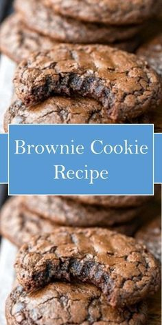 Brownie Cookie Recipe - a real treat for the family! Brownie Cookie inside is slightly moist, has a crisp. The delicate chocolate flavor of cookies that melt in Brownie Cookies, Cookies Cupcake, Yummy Cookies, Cupcakes, Brownie Recipes, Cookie Recipes, Beste Brownies, Köstliche Desserts, Plated Desserts