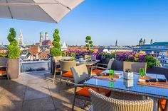 Enjoy the View from China Moon Roof Terrace