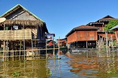 Wooden village house on stilts Inle Lake, Myanmar. Asia. #photo #photography #photograph #vincent #jary #getty #gettyimages #bank #licence #burma #inle #nature #inlay #lake #photographer #everydaylife #houseonstilts