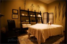 Helpful Guidance For Those Wanting To Know About Massage. If you've had the pleasure of an exquisite massage, you know it can feel great. However, it can sometimes seem like certain things prevent massages from be Massage Room Decor, Massage Therapy Rooms, Spa Room Decor, Wall Decor, Massage Clinic, Spa Massage, Esthetics Room, Spa Treatment Room, Massage Treatment