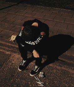 """ ""Lemme stay with you. Bad Boy Aesthetic, Aesthetic Grunge, Korean Boys Ulzzang, Ulzzang Boy, Ideas Fotos Tumblr, Pretty Boys, Cute Boys, Baby Lernen, Grunge Boy"