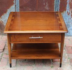 Vintage Lane Acclaim Square Side Table Walnut Mid Century Modern Danish  Retro Large Rare On Etsy