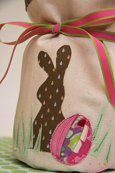 Easter bag/vase cover tutorial. Actually really easy!
