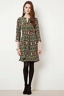 Anthro Forest Batik Dress