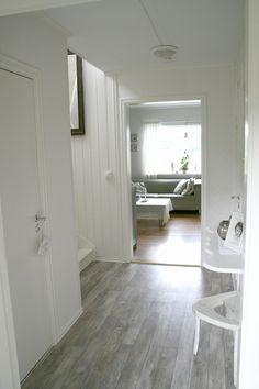 grey wood floors.