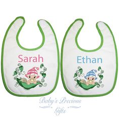 Personalised Baby Girl or Boy Pink Sweet Pea by BabysPreciousGifts