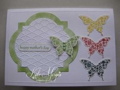 pinterest stampin up punch cards | Stampin Up Butterfly Punch