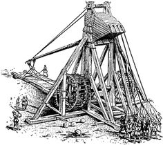 Medieval Mangonel, a super-heavy engine of war used by the Byzantines and Crusaders, less accurate than a Trebuchet, but more powerful.