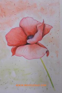 Virág rajzolás-Egyszerűen, kezdőként? Lehetséges, mindjárt meg is mutatom hogyan! Painting, Art, Art Background, Painting Art, Kunst, Paintings, Performing Arts, Painted Canvas, Drawings