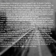 Please take time to read this. Austin Carlisle is such a inspiration . That's why he is my idol and inspiration <3