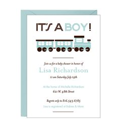 Train Baby Shower Invitation