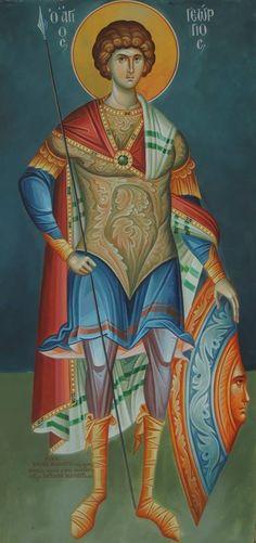 Άγιος Γεώργιος / Saint George Religious Icons, Religious Art, Ancient History, Art History, Saints And Soldiers, Religious Paintings, Catholic Saints, Saint George, Orthodox Icons