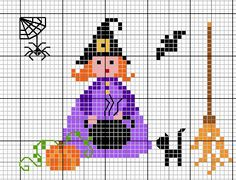 Halloween cross stitch from France