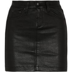 Rag & bone Leather mini skirt ($343) ❤ liked on Polyvore featuring skirts, mini skirts, bottoms, saias, faldas, black, leather skirt, button skirt, short skirts and short leather skirt
