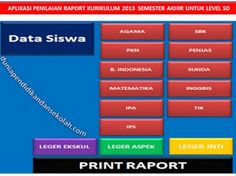 DOWNLOAD APLIKASI RAPORT SEMESTER 2 KELAS 1,2,3,4,5,6 KURIKULUM 2013 REVISI 2017 SD