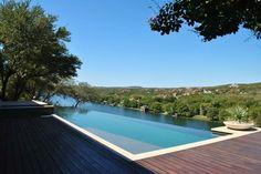 Amazing infinity pool over Lake Austin!