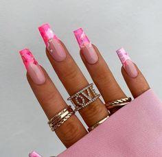 Cute Acrylic Nail Designs, Best Acrylic Nails, Nail Art Designs, Nails Design, Design Art, Edgy Nails, Swag Nails, Gorgeous Nails, Pretty Nails