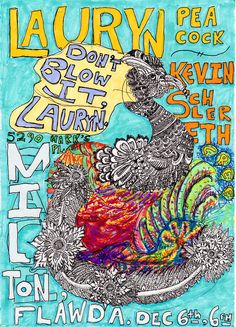 Show Flier I made for Lauryn Peacock.