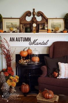 {Autumn Decor} Let's Decorate A Mantel for Fall | Celebrating everyday life with Jennifer Carroll