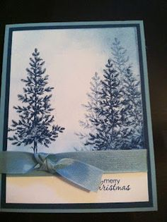 Lovely as a Tree.  Blue Trees  Crafting in KC