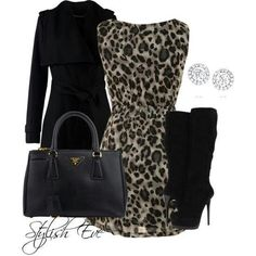 Animal print - cute outfit.... wish I could wear it!