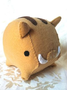Noble Boar Plush by Pinkchocolate14 on Etsy, $16.00