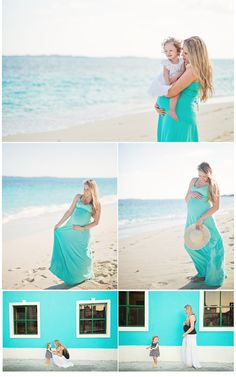 Beach Maternity Session   Krista Lii Photography - love the color coordination and the hat gives me an idea!
