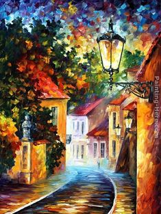 Leonid Afremov Best Paintings | Leonid Afremov Paintings - Leonid Afremov EVENING Painting